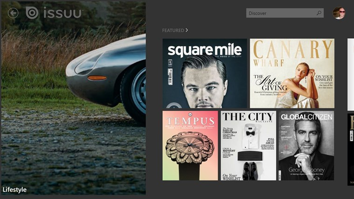 Get lost in a world of free magazines.
