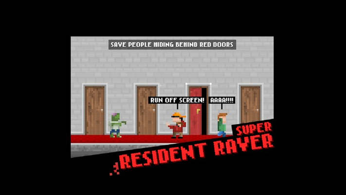 Save people inside red doors