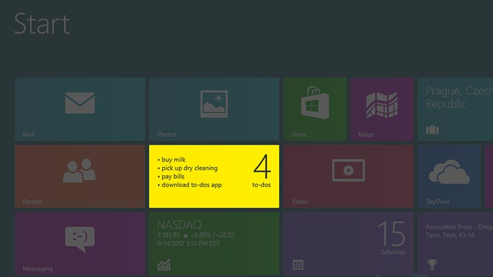 to-dos for Windows 8