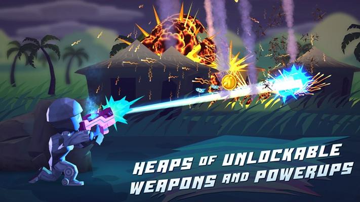 Major Mayhem using the Robo-Mayhem power up.