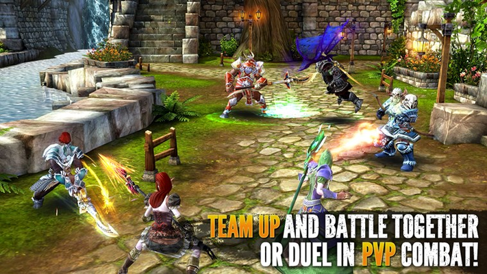 TEAM UP AND BATTLE TOGETHER  OR DUEL IN PVP COMBAT!