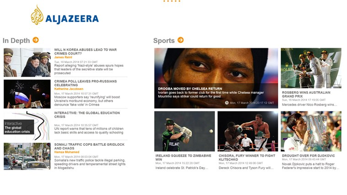 Al Jazeera for Windows 8