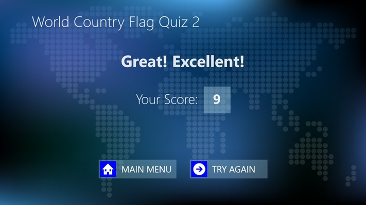 Result screen shows the number of the correct answer and your grade