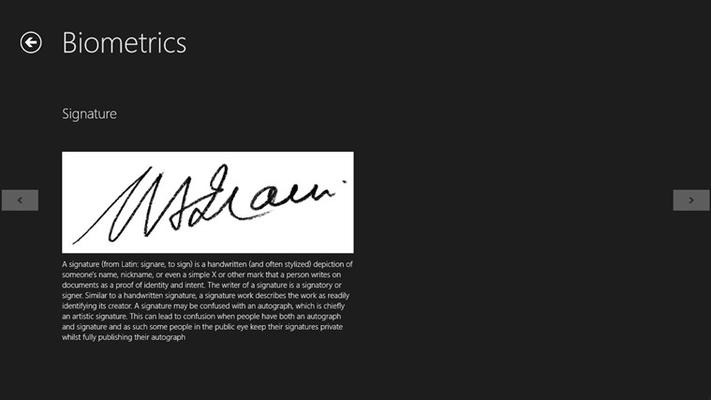 signature bio-metric