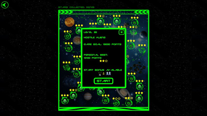 Adventure mode - stages unlocked on the map