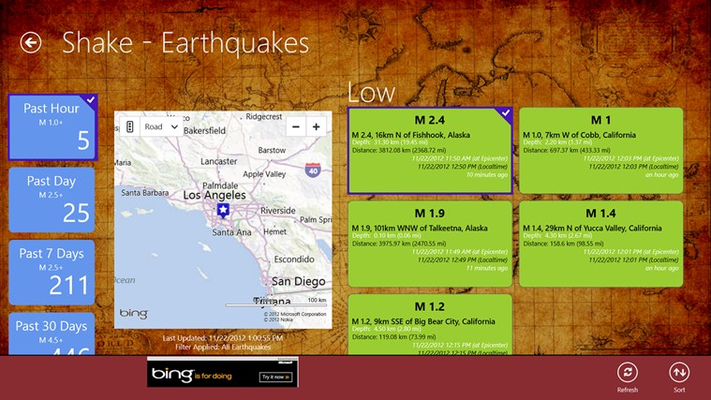 Earthquake Detail Page