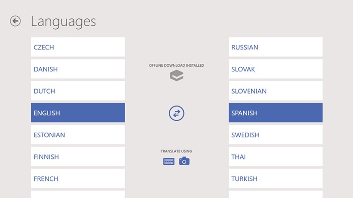 Comprehensive language support: translate between 40 languages