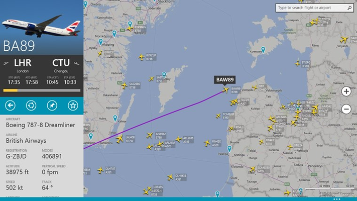 FlightRadar24 for Windows 8