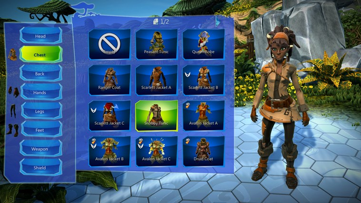 Edit your character's appearance, clothing, color schemes, and much more.