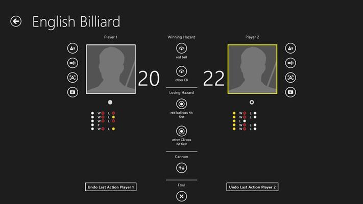 Scoreboard English Billiard