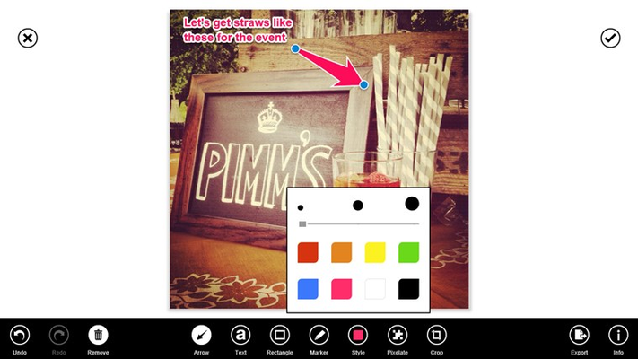 Set your color and size for any object