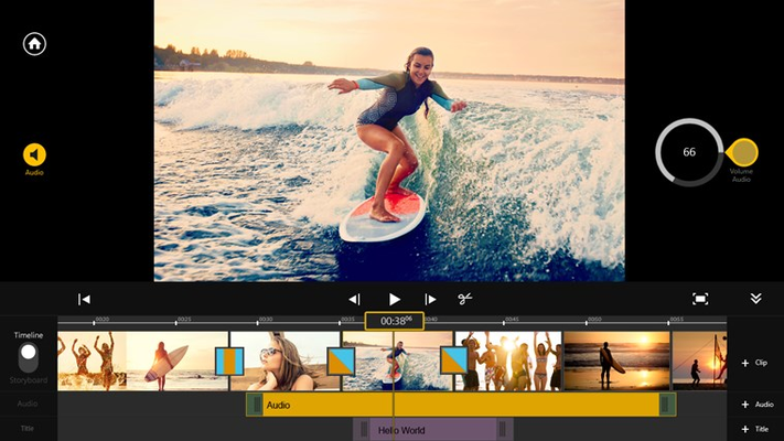Convenient volume adjustment: Easily match music and video volume levels