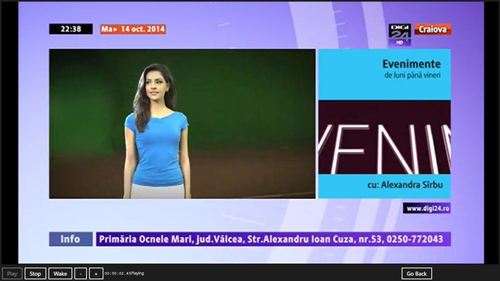 Advertisement is taking place in one of the TV Channels.