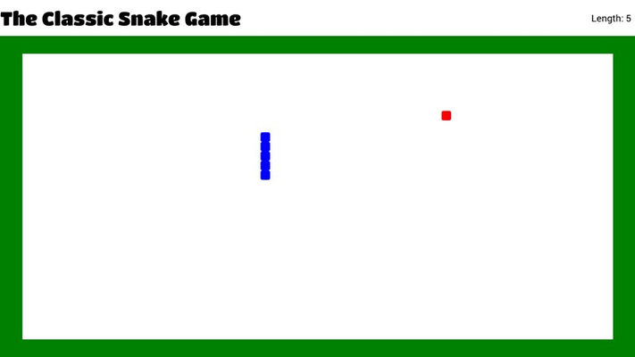 The Classic Snake Game sample question