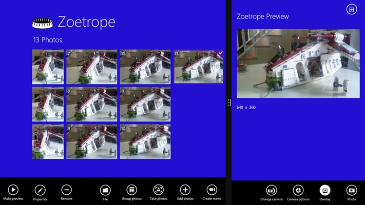 Zoetrope for Windows 8