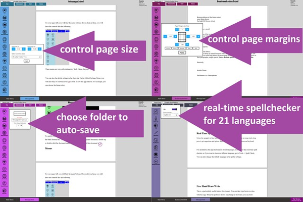 Many page formatting features.