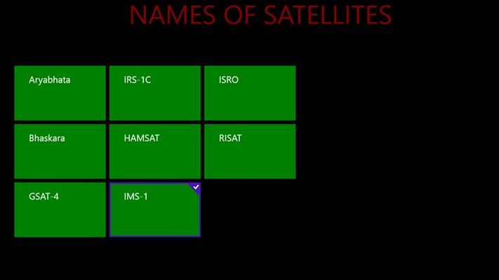 names of satellites