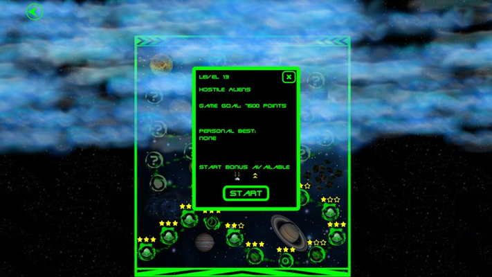 Adventure mode - each level has unique challenge