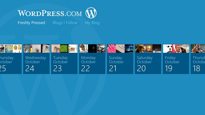 Use semantic zoom to see a quick overview of the posts list.