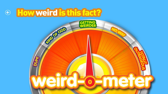Rate the level of weirdness for each fact using the Weird-o-Meter! For more fun and facts download Weird But True by National Geographic Kids!