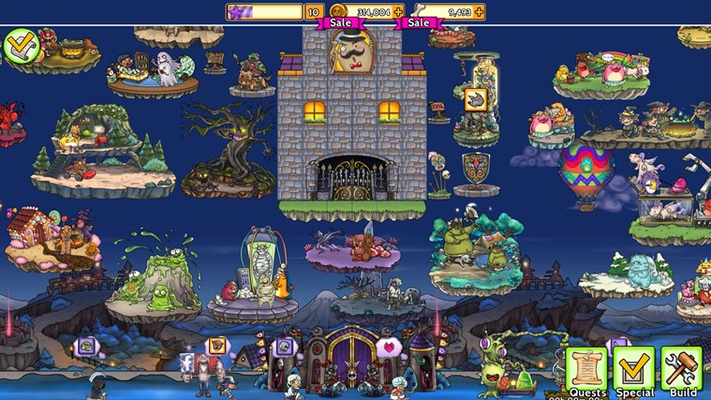 Build a great monster castle!