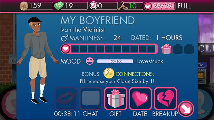 your boyfriend interface