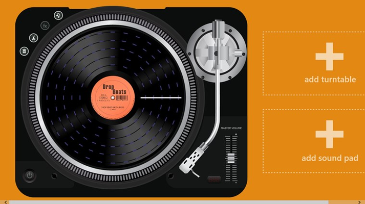 """Start by tapping """"add turntable"""" button to add a turntable."""