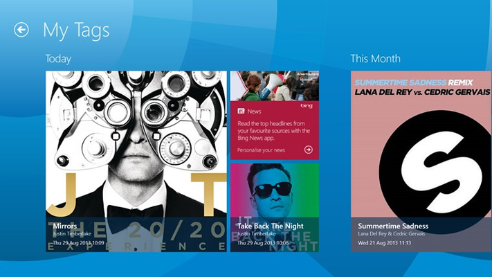 Shazam for Windows 8