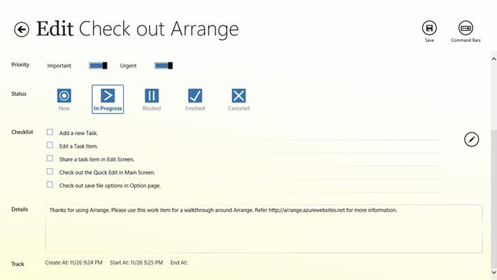 Arrange for Windows 8