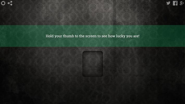 A fingerprint scanner that tells your luck!