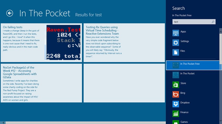 In The Pocket for Windows 8