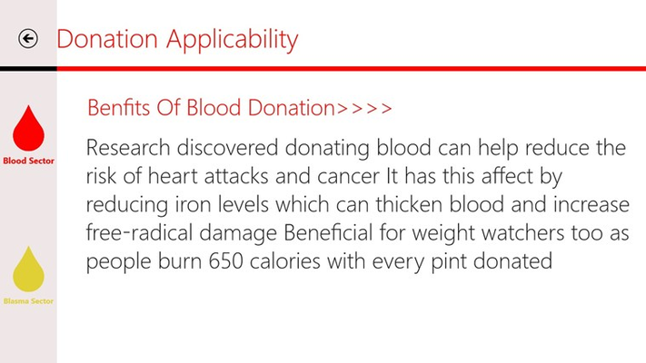 in this sector you will know the blood types that you can donate for based on your blood type