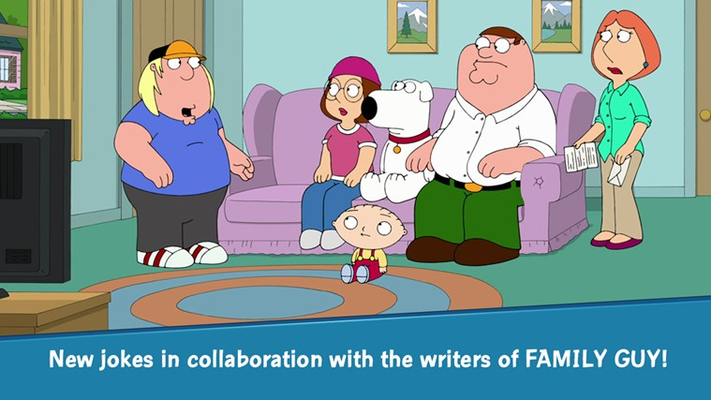 New jokes in collaboration with the writers of FAMILY GUY!