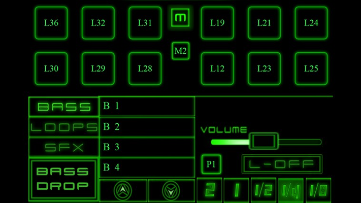 The edit screen lets you edit samples for each sound pad and select from a huge range of Drum and Bass loops, drums, bass reeces and fx.