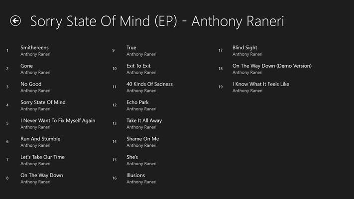 list songs in a album
