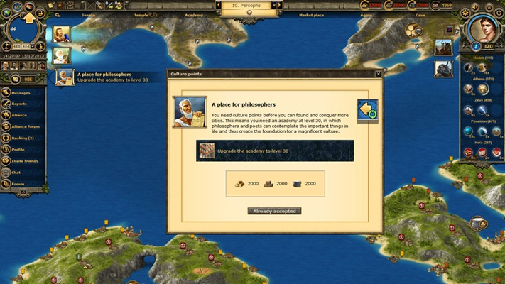 A straightforward tutorial makes Grepolis an easy-to-learn experience. Exciting quests teach you the basics of the game to get you prepared for world domination.