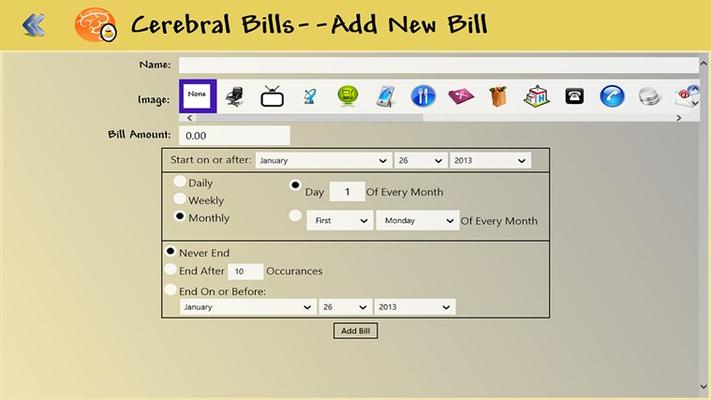Cerebral Bills for Windows 8