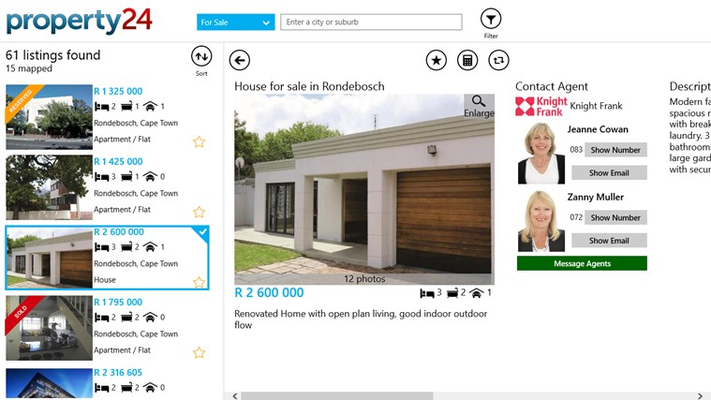 Instantly access the most accurate and up-to-date real estate listings in South Africa