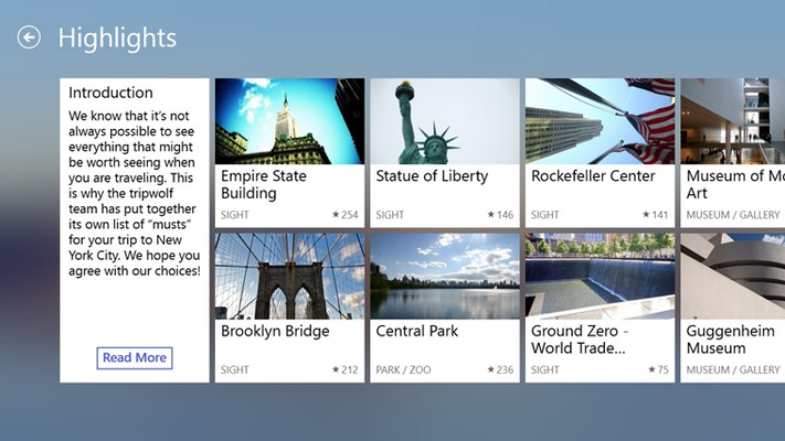 Most popular sights at a glance