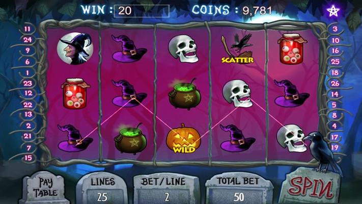 Halloween slot machine!