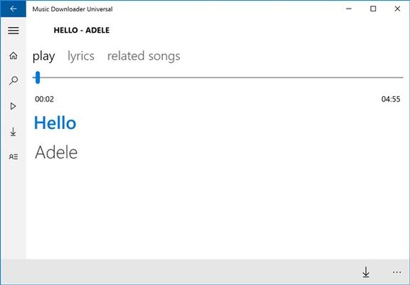 Music Downloader Universal for Windows 8