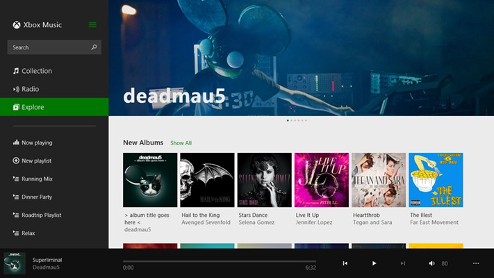 Music for Windows 8