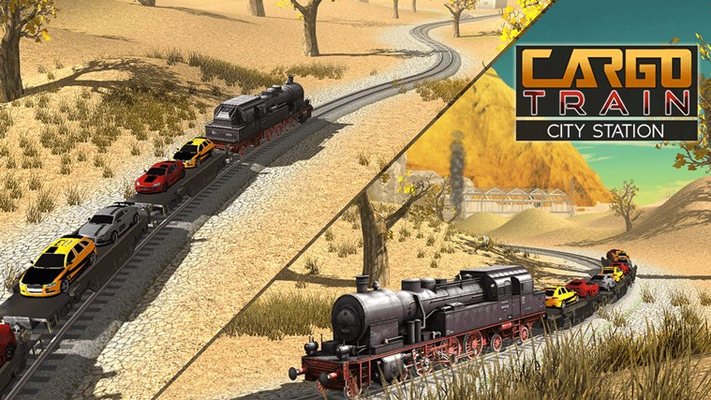 Cargo Train City Station - Cars & Oil Delivery Sim