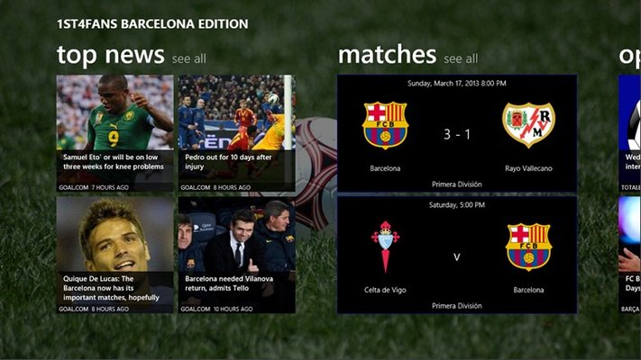 Latest news and match info at a glance