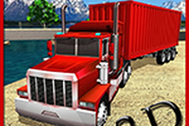 Cargo Transport Truck Driving