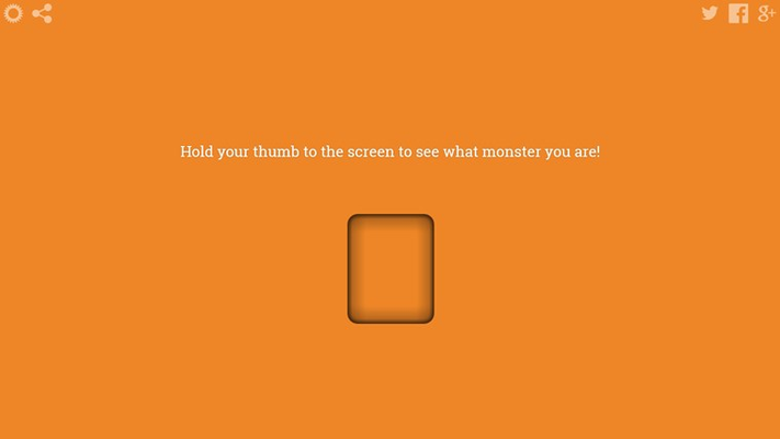 A fingerprint scanner that detects what monster you are!