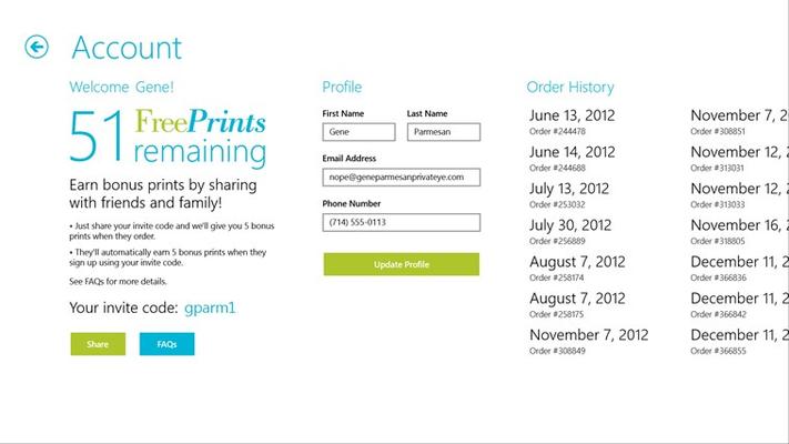 Free Prints for Windows 8