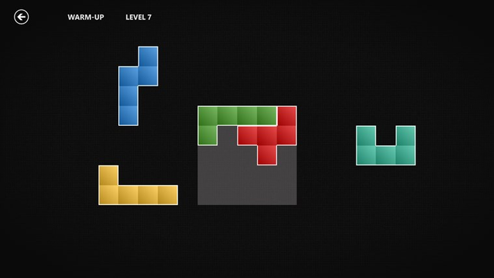 Drag the domino-like blocks onto the highlighted board...