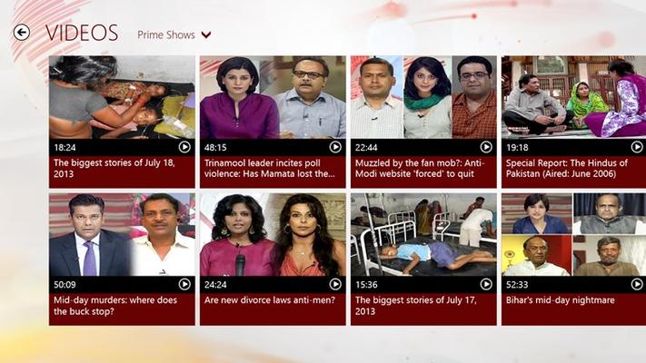 NDTV for Windows 8