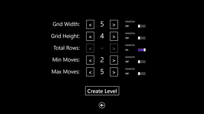 Create your own set of rules with the Level Customizer.
